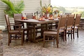 8 Chairs Dining Set Stylish Outdoor Dining Sets For 8 Dining Room Pluto 60 Outdoor
