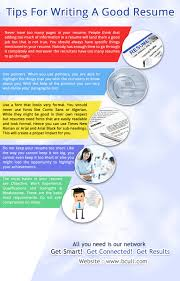 Tips For A Great Resumes On Good Resume