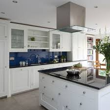 Kitchen Splashback Ideas Uk Navy Kitchen Ideas Ideal Home