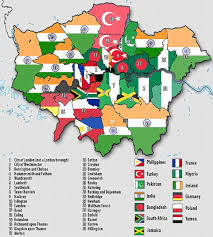 Map Of Islam Around The World by London Map Reveals The Areas Where 50 Of Residents Are Born