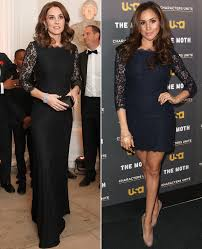 Kate Middleton Dress Style From by Kate Middleton And Meghan Markle Have The Same Lace Dress People Com