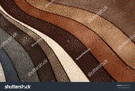 artificial leather variety shades colors horizontal stock photo