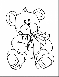 fabulous teddy bear clip art black and white with bear coloring