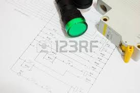 female electrician reading diagram stock photo picture and