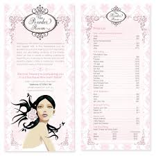 salons and spa graphic and web design glamorous feminine