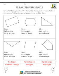 Grade 2 French Immersion Worksheets 3rd Grade Math Practice 2d Shape Properties 1 Educational