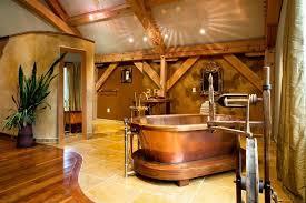 cozy cottage look rustic bathroom dcor unique hardscape design