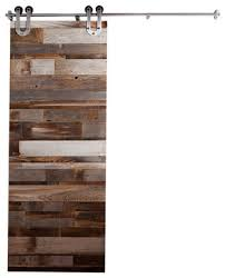 Reclaimed Wood Interior Doors Reclaimed Wood Horizontal Slat Barn Door 7 Ft High X 3 Ft Wide