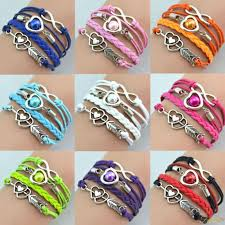 leather charm bracelet ebay images Bracelets ebay jewellery watches products jpg