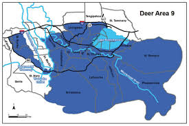 louisiana map areas deer area 9 louisiana seasons regulations