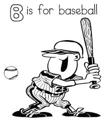 baseball coloring pages free alphabet coloring pages b is for
