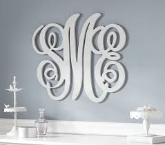 personalized monogram letters pottery barn