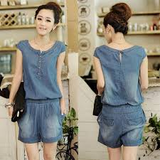 jean rompers and jumpsuits wholesale fancy 2015 chiffon shorts jumpsuit ruffles