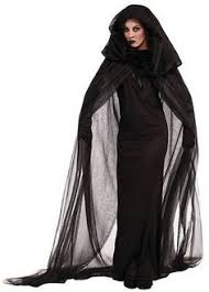 Black Halloween Costume Haunted Black Cape U0026 Dress Hood Costume Halloween Accessory