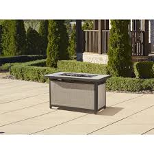 gas log fire pit table cosco outdoor serene ridge aluminum propane gas fire pit table with