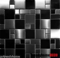 stainless steel tiles for kitchen backsplash sample unique black stainless steel pattern mosaic tile kitchen