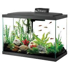 amazon com aqueon aquarium fish tank starter kit with led