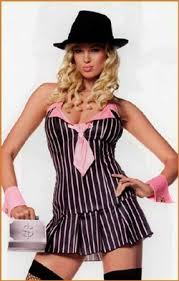 Gangster Woman Halloween Costumes Women U0027s Gangster Halloween Costume Includes Halter Dress Pink