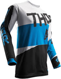 thor motocross gloves thor mx motocross 2017 pulse taper jersey white blue