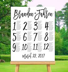 Wedding Seating Chart Template Best 25 Seating Chart Wedding Ideas On Pinterest Table Seating
