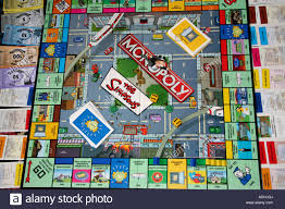 monopoly map simpsons monopoly board stock photo royalty free image