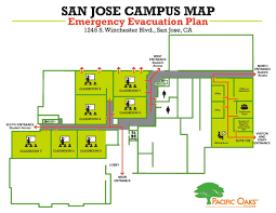 floor plan for classroom emergency information pacific oaks college