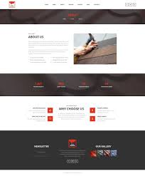 eco roofs roofing renovation psd template by mwtemplates