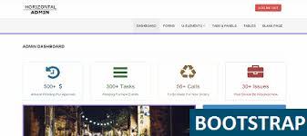 menu templates for bootstrap free responsive horizontal admin using bootstrap
