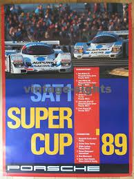 porsche racing poster 1989 porsche supercup 962c winners bob wollek vintage poster