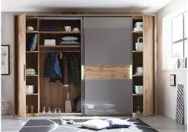Schlafzimmerschrank Reinigen Kleiderschrank Wildeiche Basaltgrau Mit Beleuchtung Woody 207