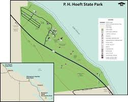 Holland Michigan Map by P H Hoeft State Park Maps U0026 Area Guide Shoreline Visitors Guide
