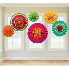 paper fan circle decorations fiesta paper fan decorations shindigz