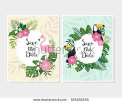 vector tropical card thank stock vector 565185976