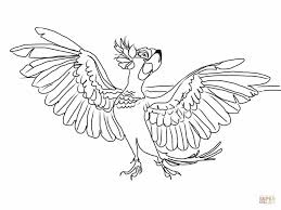 jewel with wings spread wide coloring page free printable