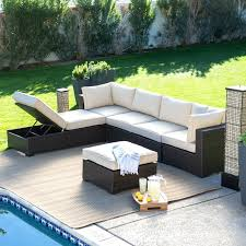 all weather wicker sectional patio furniture tags 95 sensational