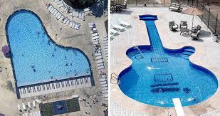 let u0027s swim and play piano vs guitar shaped swimming pool
