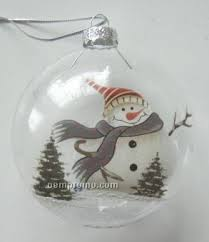 snowman clear glass ornament china wholesale snowman clear glass