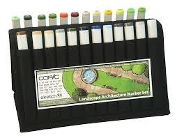 copic sketch marker 24 color landscape architecture wallet rex