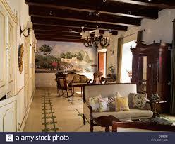 india goa siolim house portuguese colonial era mansion stock