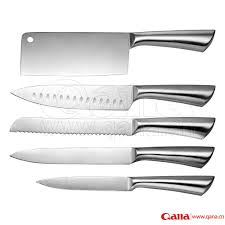Pro Kitchen Knives by 6 Piece Stainless Steel Kitchen Knife Set With Block