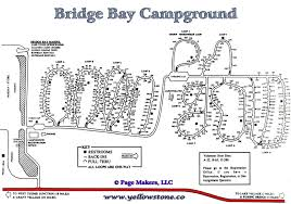 Map Of Yellowstone National Park Bridge Bay Campground Information Map Pictures And Videos
