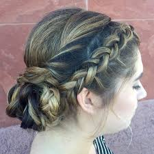 hair braid across back of head cute and comfortable braided headband hairstyles