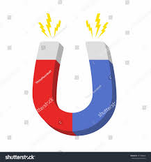 Home Design 3d Magnetism Blue Red Horseshoe Magnet Magnetism Attraction Stock Vector