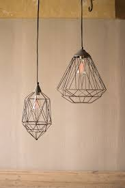 wire pendant light fixtures small geometric wire pendant l woodwaves