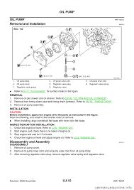 nissan 350z valve cover nissan 350z 2007 z33 engine lubrication system workshop manual