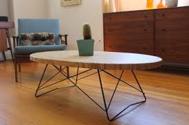 table mid century modern oval coffee table industrial large mid