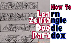 how to draw complex zentangle paradox design for beginners doodle
