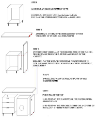 height of ikea base cabinets with legs cabinet and washing machine frame ikea hackers ikea