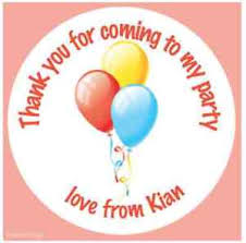 personalised birthday balloons personalised birthday balloons stickers party bags thank you cake