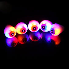 led light up rings 6pcs lot halloween party eyeball rings led lights up ring in glow